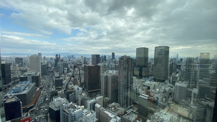 ザ・リッツ・カールトン大阪クラブラウンジからの風景